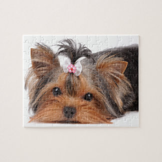 Portrait of cute puppy jigsaw puzzle