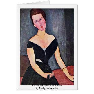 Portrait Of Dame Van Muyden By Modigliani Amedeo Card