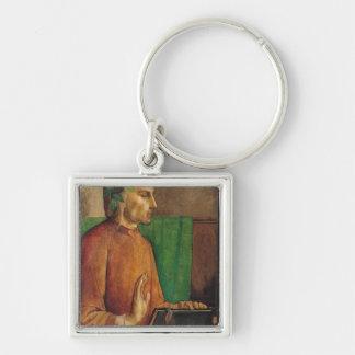 Portrait of Dante Alighieri , c.1475 Silver-Colored Square Key Ring