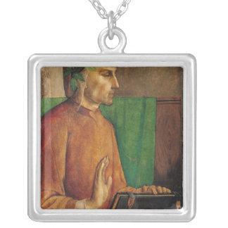 Portrait of Dante Alighieri , c.1475 Silver Plated Necklace