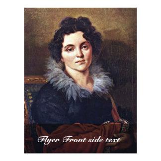 Portrait Of Darya Nikolaevna Chvostova By Kiprensk Full Color Flyer