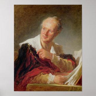 Portrait of Denis Diderot  c.1769 Print