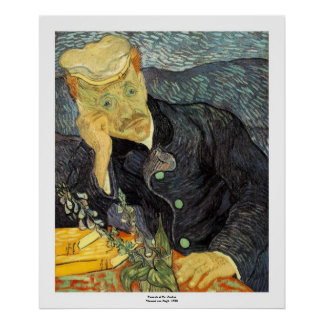 Portrait of Doctor Gachet by Vincent van Gogh Poster