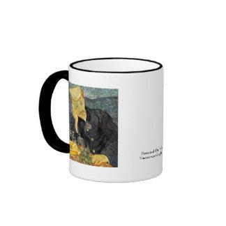 Portrait of Doctor Gachet by Vincent van Gogh Ringer Mug