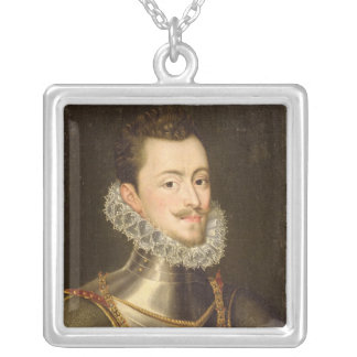 Portrait of Don John of Austria Silver Plated Necklace