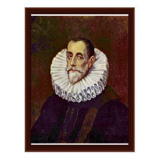 Portrait Of Don Rodrigo Vasquez By Greco El Postcard