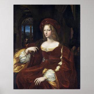 Portrait of Doña Isabel de Requesens by Raphael Poster