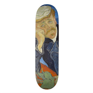 Portrait of Dr Gachet by Vincent Van Gogh Custom Skate Board