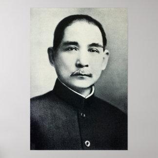 Portrait of Dr Sun Yat-Sen Print