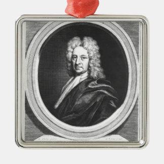 Portrait of Edmond Halley Metal Ornament
