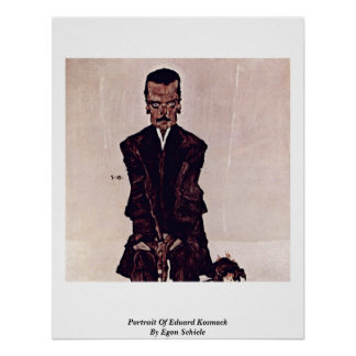 Portrait Of Eduard Kosmack By Egon Schiele Poster