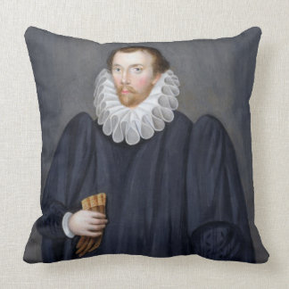 Portrait of Edward Coke (1552-1634) from 'Memoirs Throw Pillow