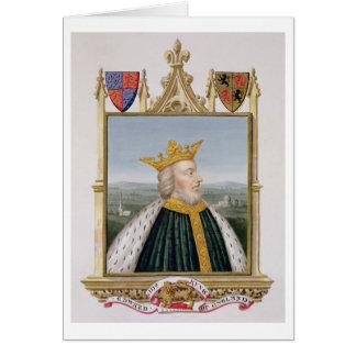 Portrait of Edward III (1312-77) King of England f Card