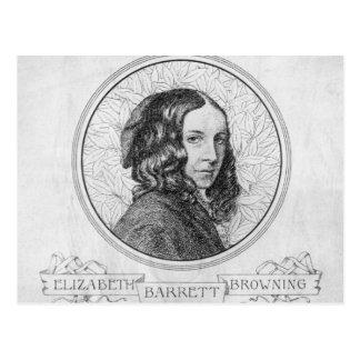 Portrait of Elizabeth Barrett Browning Postcard