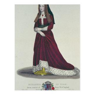 Portrait of Elizabeth of York, 1841 Postcard