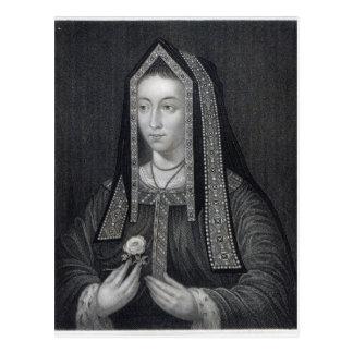 Portrait of Elizabeth of York Postcard