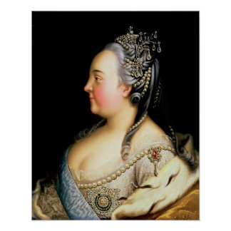 Portrait of Elizabeth Petrovna  Empress Poster
