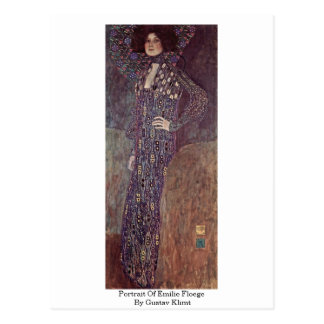 Portrait Of Emilie Floege By Gustav Klimt Postcard