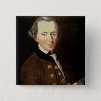 Portrait of Emmanuel Kant 15 Cm Square Badge
