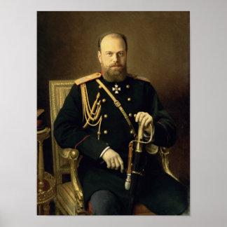 Portrait of Emperor Alexander III  1886 Poster