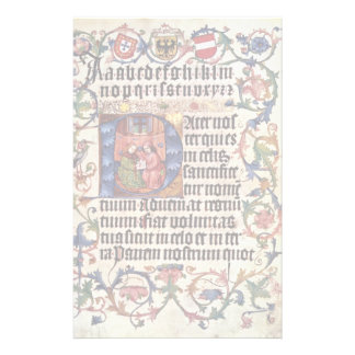 Portrait Of Emperor Maximilian I And His Teacher B Personalized Stationery