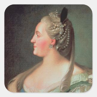 Portrait of Empress Catherine II the Great Square Sticker