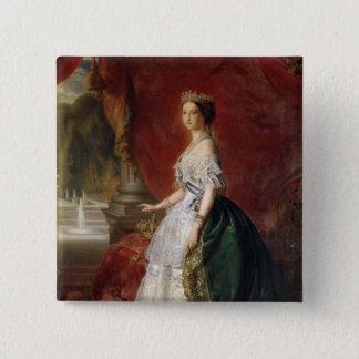 Portrait of Empress Eugenie of France 15 Cm Square Badge