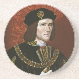 Portrait of English King Richard III Beverage Coasters