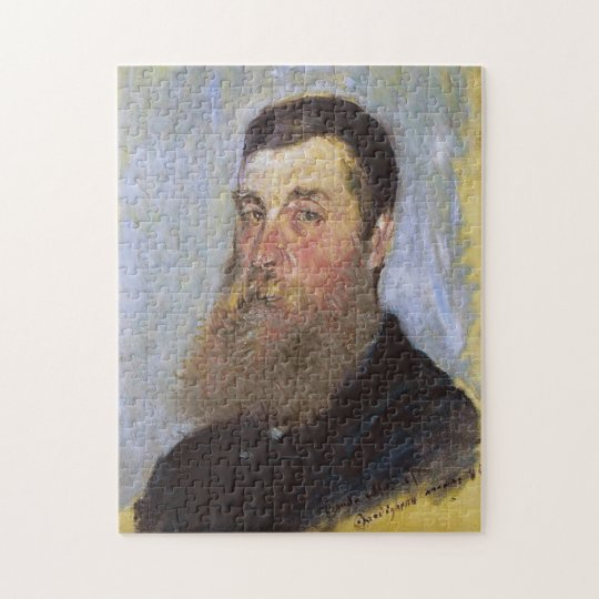 Portrait of English Painter Bordighera Monet Fine Jigsaw Puzzle