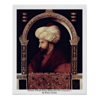 Portrait Of Fatih Sultan Mehmed Ii The Conqueror Print