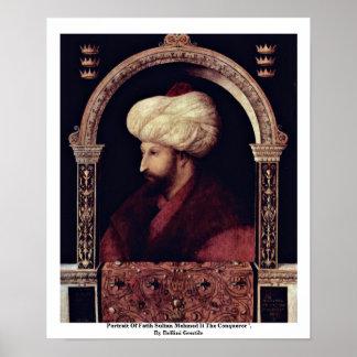 Portrait Of Fatih Sultan Mehmed Ii The Conqueror Poster