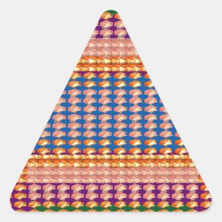 Portrait of Feeling of HAPPINESS Enjoy n SHARE JOY Triangle Sticker