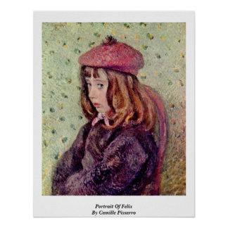 Portrait Of Felix By Camille Pissarro Poster