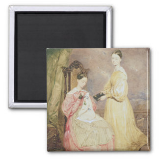Portrait of Florence Nightingale  and her Square Magnet