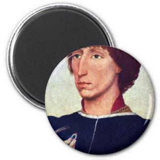 Portrait Of Francesco D'Este By Weyden Rogier 6 Cm Round Magnet