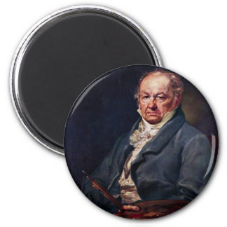 Portrait Of Francisco De Goya By Vicente Lã³Pez 6 Cm Round Magnet