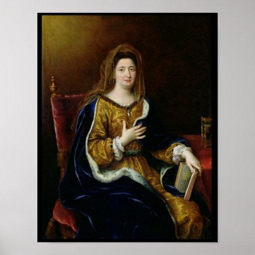 Portrait of Francoise d'Aubigne  Marquise Poster