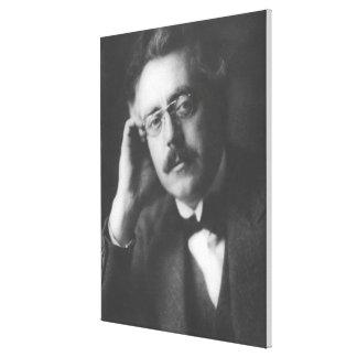 Portrait of Frank Bridge (1879-1941) (b/w photo) Canvas Print