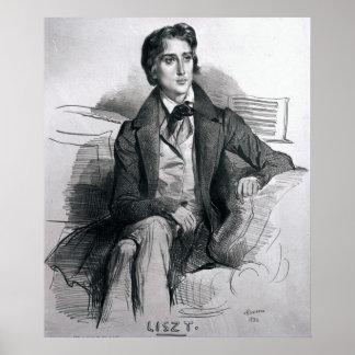 Portrait of Franz Liszt  August 1832 Poster