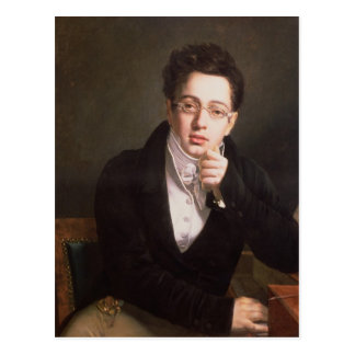 Portrait of Franz Schubert , Austrian composer Postcard