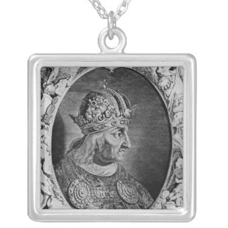 Portrait of Frederick IV , Holy Roman Emperor Silver Plated Necklace