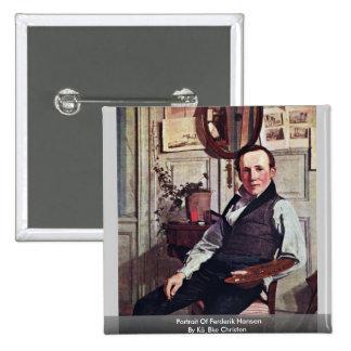 Portrait Of Frederik Hansen Pins