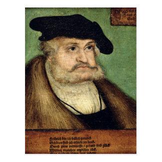 Portrait of Friedrich III  Elector of Saxony Postcard