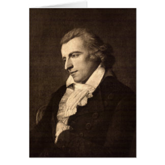 Portrait of Friedrich Schiller - Greeting Card