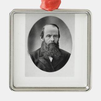 Portrait of Fyodor Mikhailovich Dostoyevsky Metal Ornament