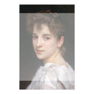 Portrait of Gabrielle Cot by William Bouguereau 14 Cm X 21.5 Cm Flyer