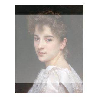 Portrait of Gabrielle Cot by William Bouguereau 21.5 Cm X 28 Cm Flyer