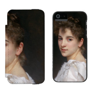 Portrait of Gabrielle Cot by William Bouguereau Incipio Watson™ iPhone 5 Wallet Case