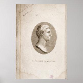 Portrait of Gaius Crispus Sallust Poster