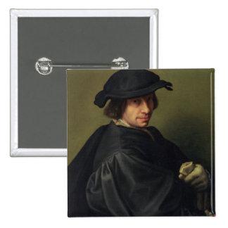 Portrait of Galeazzo Campi (1475-1536) the Artist' 15 Cm Square Badge